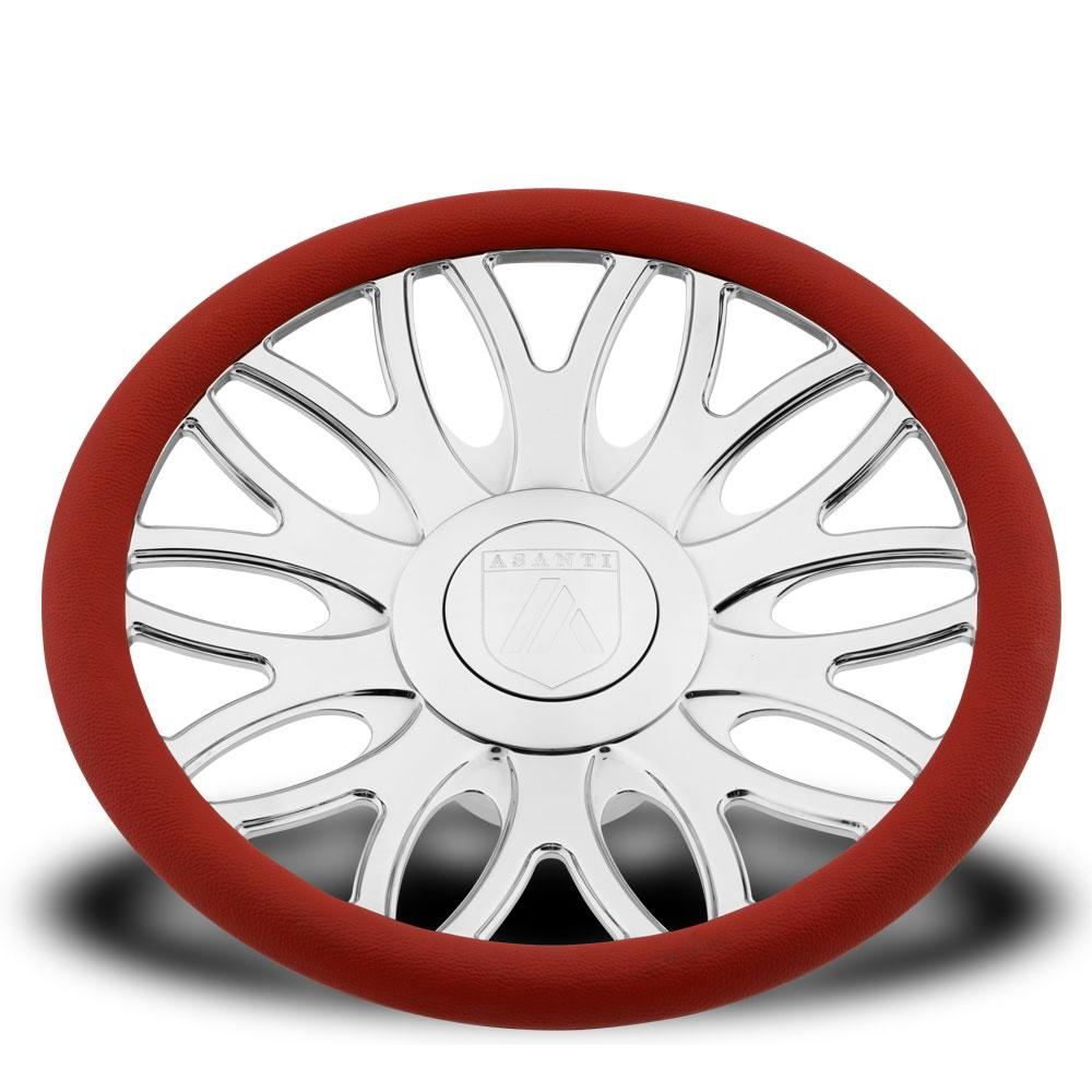 Asanti Steering Wheels - AF147 Light Gray with Red