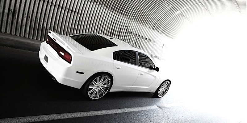 dodge charger with asanti wheels da504 - Dodge Charger 2013 White Black Rims