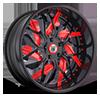 AF832 in Black and Red