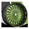 AF824 in Green with Black Lip